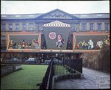 The Coop Building, Westgate Buildings, decorated for Christmas c.1970s