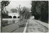 The riverbank looking towards Pulteney Bridge, 1953-55