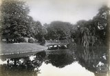 Bridge over the lake in Royal Victoria Park, Bath c.1890