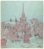 St Swithin's Church, Walcot, viewed from Hedgemead Park, Bath c.1916