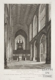 Bath Abbey Church, view of the nave looking east, Bath 1816