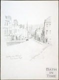 Looking down Belmont, Lansdown Road and Broad Street, Bath c.1930