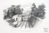 Great Western Railway, through Sydney Gardens, Bath 1844