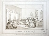 Comforts of Bath, Plate 3. The Pump Room 1798, republished 1857 - detail