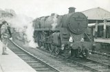 No.73027 in the middle road at Bath Spa Station on E.C.S. working, c.1960