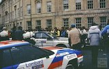 The Lombard RAC Rally at Laura Place, Bath, either 1980 or 1983
