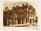 Etching of Hetling House, aka. Abbey Church House, Bath, 1886