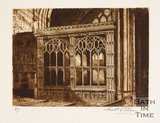 Etching of Prior Bird's Chantry, Bath Abbey, 1886