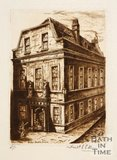 Etching of Beau Nash's house, Saw Close, Bath, 1886