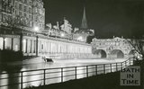 Pulteney Bridge, Bath floodlit, c.1950s