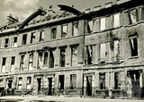 Somerset Place, Bath devastated during the Bath Blitz 1942