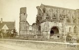 The ruined exterior, Malmesbury Abbey, Wiltshire c.1863