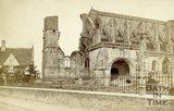 The ruined exterior, Malmesbury Abbey, Wiltshire c.1863