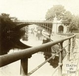 North Parade Bridge and the River Avon, Bath c.1870