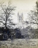 Bath Abbey and Literary and Scientific Institution viewed from across the River Avon, Bath c.1880