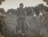 Three legged race, Charlton Park, Keynsham 1945