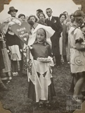 Queen of Hearts fancy dress, Charlton Park, Keynsham 1945