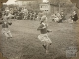 Girls running race, Charlton Park, Keynsham 1945