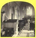 Interior of St. Nicholas Church, Bathampton 1863