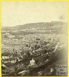 View of Bath from the east side of Beechen Cliff, August 1863