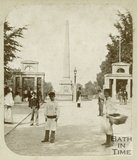 The entrance to Royal Victoria Park and obelisk, February 14th 1859