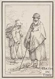 Rustic figures two women one with basket on back sketched from life by Thomas Barker, c.1800