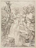 Rhaiadr y Pandu on the Etilia, near Ffestiniog, Merionethshire, Wales by Thomas Barker, 1814