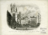 East view of the Abbey, from the Orange Grove, Bath c.1848