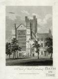 East view of Bath Cathedral, Bath Abbey, Bath 1816