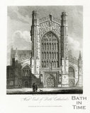 West End of Bath Cathedral, Bath 1814