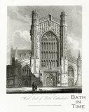 West End of Bath Cathedral, Bath 1814