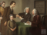 Dr. Oliver and Mr. Peirce the First Physician and Surgeon Examining Patients Inflicted with Paralysis, Rheumatism and Leprosy 1761