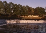 The weir at Bathampton in the evening c.1975