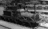Ex Liverpool & Manchester Railway Lion at Monkton Combe Station 1952