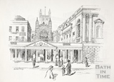 The Colonnade, Pump Room and Abbey, Bath c.1890-1920