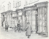 Georgian shop fronts in Old Bond Street, Bath 1939