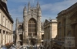 West front, Bath Abbey from the Colonnade, Bath