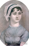 One of the only known portraits of Jane Austen (1775-1817) c.1810