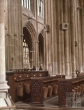 Nave from nerth east trancept, Bath Abbey, Bath 1963