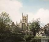 Bath Abbey from Parade Gardens, Bath 1960