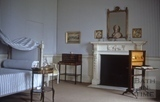 No.1 Royal Crescent: interior: bedroom with reproduction bed 1971