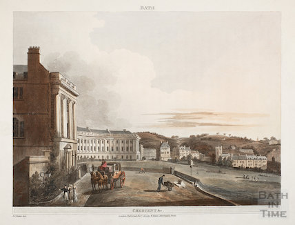 The Royal Crescent from Marlborough Buildings, Bath 1804