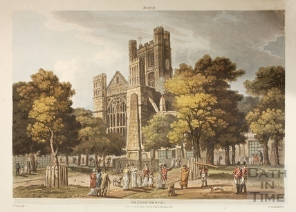 Bath Abbey from Orange Grove, Bath 1805