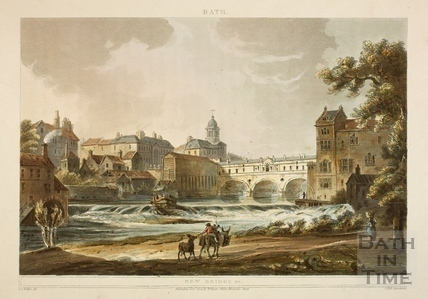 Pulteney Bridge and Weir from South, Bath 1804