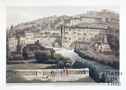 Pulteney Bridge from North Parade, Bath 1805
