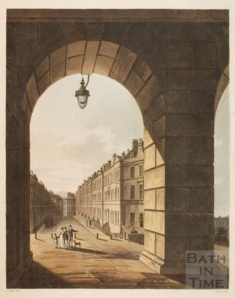 View along Great Pulteney Street, Bath 1804