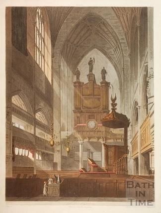 Interior,  Bath Abbey, Bath 1805