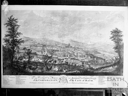View of Bath from Beechen Cliff 1757