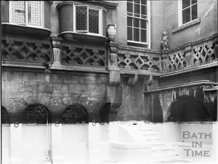 King's Bath during reconstruction, Bath c.1903