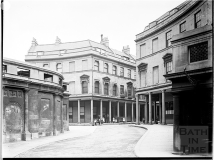 Bath Street from Hot Bath Street, Bath c.1903